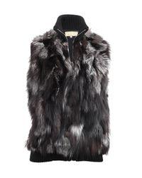 Michael Kors | Black Fur Sweater Vest | Lyst