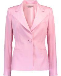 Oscar de la Renta - Pink One Button Blazer With Trouser - Lyst