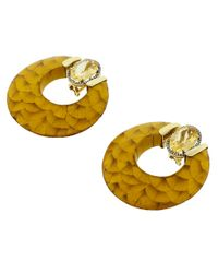 Silvia Furmanovich - Metallic Marquetry Hoop Earrings - Lyst