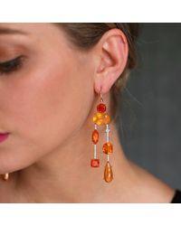 Irene Neuwirth - Multicolor Fire Opal Diamond Drop Earrings - Lyst