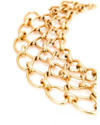Oscar de la Renta - Metallic Twisted Rope Necklace - Lyst