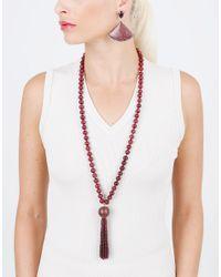 Silvia Furmanovich   Multicolor Marquetry Light Purple Tassel Necklace   Lyst