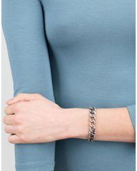 Sylva & Cie - Metallic Diamond Curb Link Bracelet - Lyst