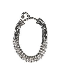 Lanvin | Metallic Kristin Three-strand Necklace | Lyst