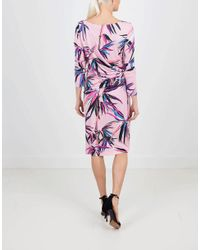 Emilio Pucci - Pink Ruched Bamboo Dress - Lyst