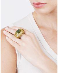 Silvia Furmanovich - Marquetry Green Ring - Lyst