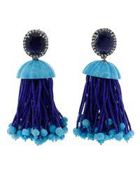 Silvia Furmanovich - Blue Tassel Earrings - Lyst