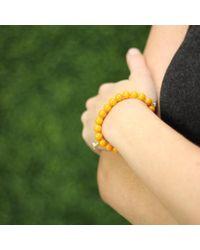 Sydney Evan - Yellow Pyramid Heart Beaded Bracelet - Lyst