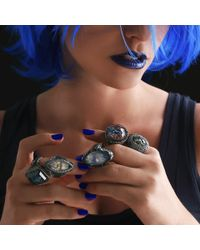 Sevan Biçakci - Blue Carved Seahorse Ring - Lyst