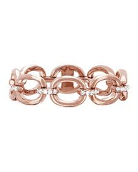 EF Collection - Pink Partial Diamond Chain Link Ring - Lyst