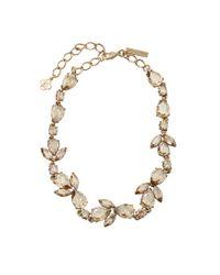 Oscar de la Renta | Metallic Pear Rhinestone Necklace | Lyst