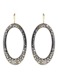 Todd Reed - Metallic Diamond Pave Drop Earrings - Lyst