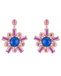 Larkspur & Hawk - Blue Cora Fancy Chandelier Earrings - Lyst