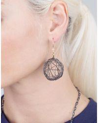 Boaz Kashi - Metallic Silver Drop Nest Earrings - Lyst