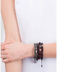 Shamballa Jewels - Multicolor Ebony Wood Bead Bracelet - Lyst