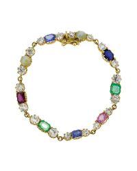 Sylva & Cie - Metallic Vintage Bracelet & Choker Necklace - Lyst