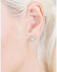 Irene Neuwirth - Blue Cabochon Turquoise Stud Earrings - Lyst