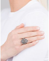 Todd Reed - Black Mixed Diamond Pear Ring - Lyst