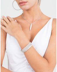 Mattia Cielo - Metallic Rugiada Micro Pave Three-circle Wrap Bracelet - Lyst