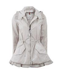 Moncler - Gray Lotus Eyelet Jacket - Lyst