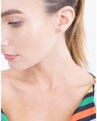 Alison Lou - Multicolor Tiny Flower Stud - Lyst