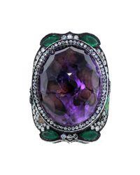 Sevan Biçakci - Metallic Butterfly Garden Amethyst Ring - Lyst