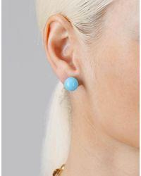 Irene Neuwirth - Blue Kingman Turquoise Stud Earrings - Lyst