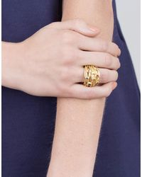 Boaz Kashi - Yellow Sapphire And Tourmaline Wire Wrap Ring - Lyst