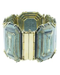 Silvia Furmanovich - Marquetry Blue Geometric Bracelet - Lyst