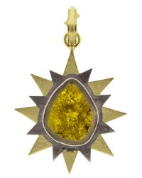 Sylva & Cie - Multicolor Pear Shape Diamond Slice Pendant - Lyst