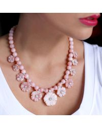 Irene Neuwirth - Carved Pink Opal Flower Necklace - Lyst