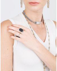 Sylva & Cie - Metallic Intaglio Scarab Ring - Lyst