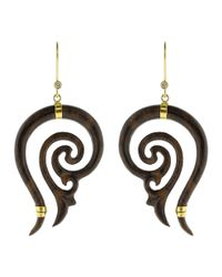 Boaz Kashi - Metallic Carved Earrings - Lyst