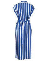 ESCADA - Blue Dras Striped Shirt Dress - Lyst