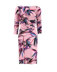 Emilio Pucci | Pink Ruched Bamboo Dress | Lyst