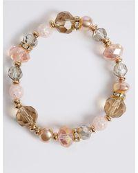 Marks & Spencer - Pink Party Mix Bracelet - Lyst