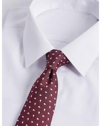 Marks & Spencer - Red Pure Silk Geo Print Tie for Men - Lyst