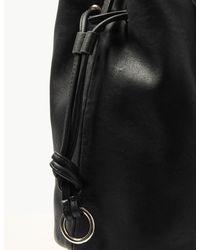 Marks & Spencer - Black Faux Leather Bucket Cross Body Bag - Lyst