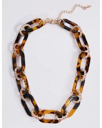 Marks & Spencer - Multicolor Tortoise Link Necklace - Lyst