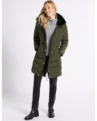 Marks & Spencer - Green Padded Jacket With Stormweartm - Lyst