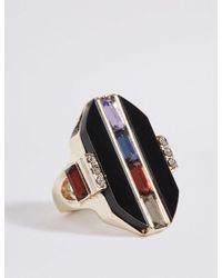 Marks & Spencer - Multicolor Baguette Gem Ring - Lyst