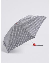 Marks & Spencer | Blue Printed Compact Umbrella With Stormweartm | Lyst