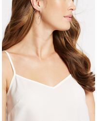 Marks & Spencer - Metallic Angled Dot Earrings - Lyst