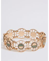 Marks & Spencer - Multicolor Cut Out Shell Bracelet - Lyst
