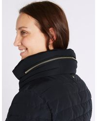 Marks & Spencer - Blue Padded Down & Feather Jacket With Stormweartm - Lyst