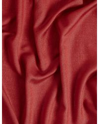 Marks & Spencer - Red Modal Rich Pashminetta Scarf - Lyst