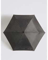 Marks & Spencer   Black Spotted Compact Umbrella With Stormweartm   Lyst