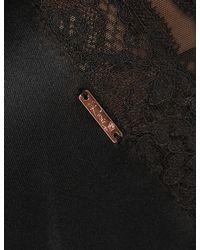 Marks & Spencer - Black Silk Strappy Chemise - Lyst