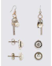 Marks & Spencer - Metallic Corded Earrings Set - Lyst