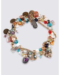 Marks & Spencer | Multicolor Charm Cluster Bracelet | Lyst